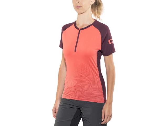ION Traze Koszulka kolarska, krótki rękaw Kobiety, pomarańczowy/czerwony
